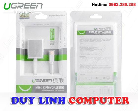 Mini Displayport to VGA Ugreen UG-10403 cao cấp