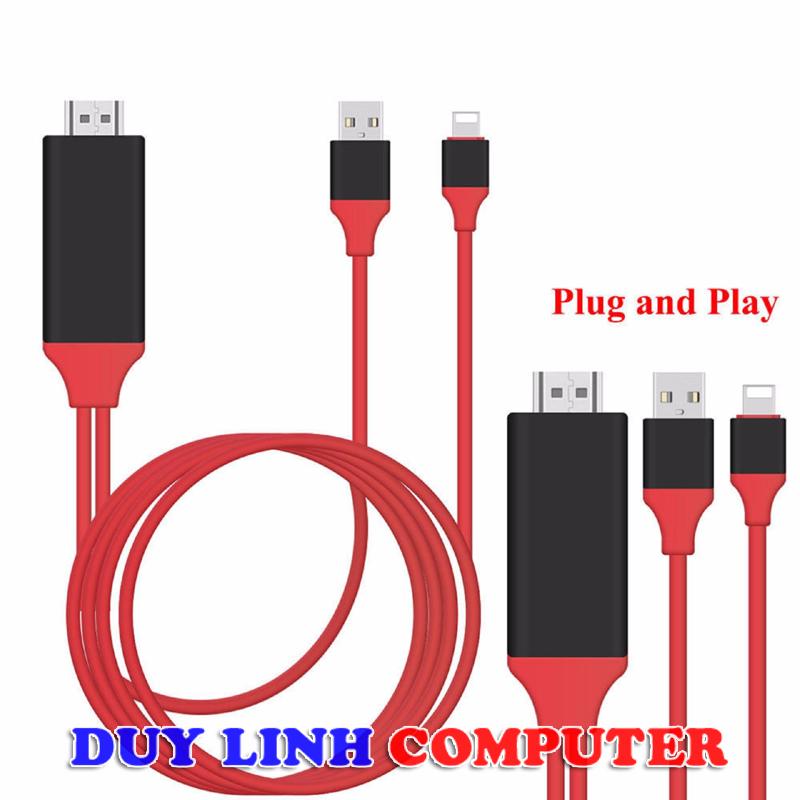Cáp chuyển Iphone to HDMI dài 2m giá rẻ (Cắm là sử dụng )