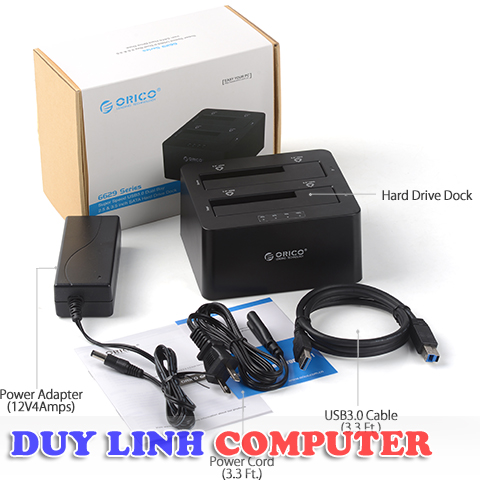 Docking Orico 6629US3 chuẩn 3.0 cắm song song HDD 2.5