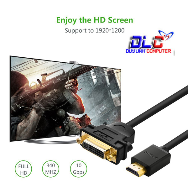 Cáp HDMI to DVI 24+5 UGREEN 20136