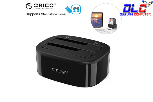 Docking Orico 6228US3-C chuẩn 3.0 cắm song song HDD 2.5