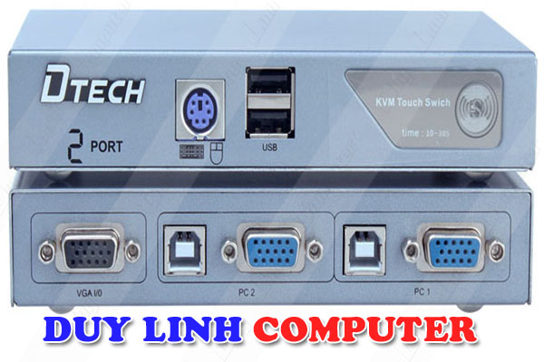 KVM Switch 2 port VGA USB and PS2 DTECH DT-8021