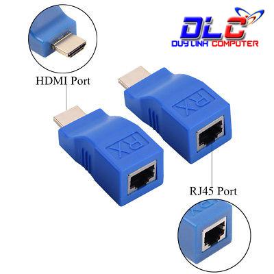 Bộ kéo dài HDMI 30m qua cáp mạng Cat5E/6 chuẩn RJ45 giá rẻ
