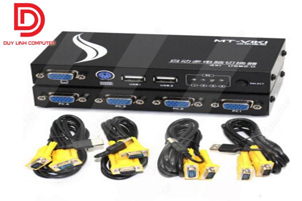 Auto KVM Switch 4Port- PS2 và USB MT-471UK-L chính hãng