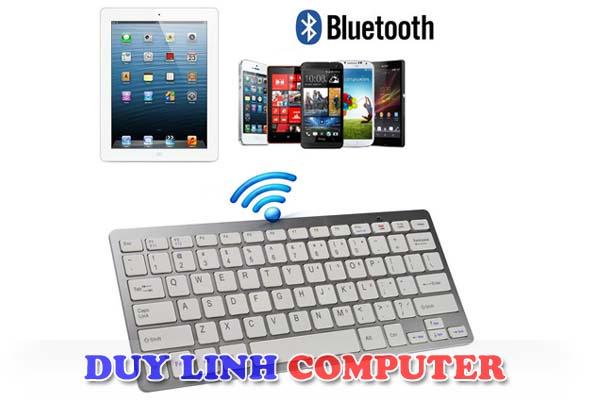 Bàn phím Bluetooth BK3001 dùng cho Máy tính bảng, Mobile, Laptop