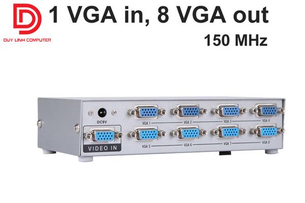 Bộ chia 1 máy tính ra 8 màn hình chính hãng Viki MT-1508
