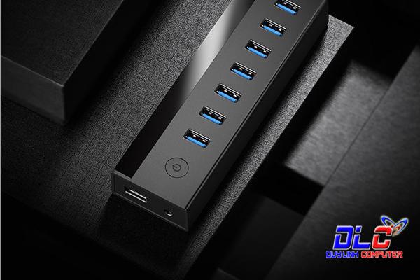 Bộ Chia USB 3.0 7 Cổng Ugreen 30845 Hỗ Trợ Nguồn DC 5V/2A