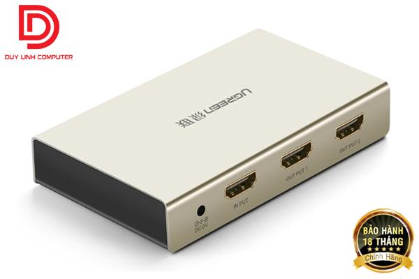 Bộ chia HDMI 1 ra 2 Ugreen 40276 chuẩn 1.4, hỗ trợ 4K*2K , 3D cao cấp