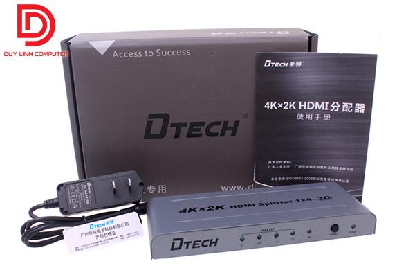 Bộ Chia HDMI 1 ra 4 Dtech DT-7144 chính hãng hỗ trợ 4Kx2K