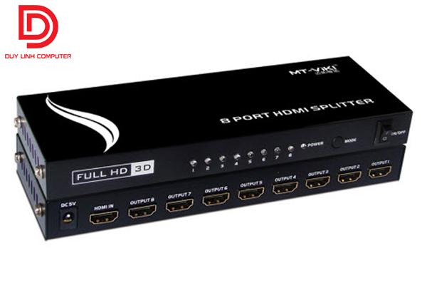 Bộ chia HDMI 1 ra 8 cổng chính hãng MT-VIKI SP-108M full HD, 4Kx2K