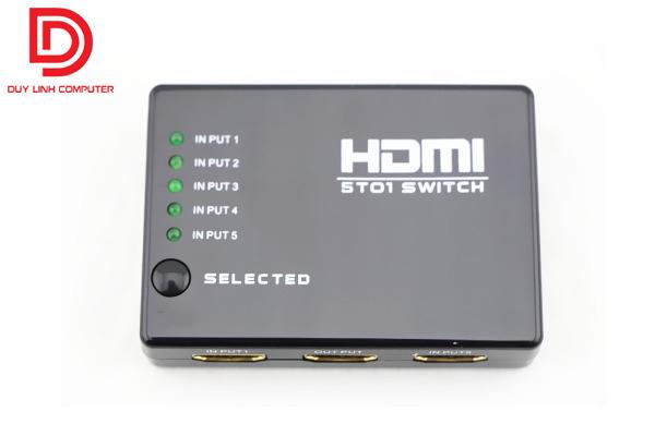 Bộ chia HDMI 5 in 1 out có điều khiển từ xa