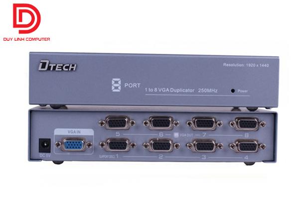 Bộ chia hình ảnh từ 1 máy tính ra 8 màn hình chính hãng DTECH DT-7258.