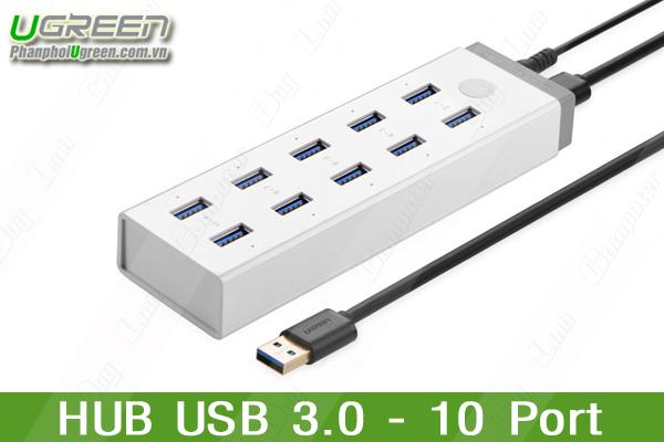 Bộ chia USB 10 cổng tốc độ cao chuẩn 3.0 cao cấp Ugreen 20297