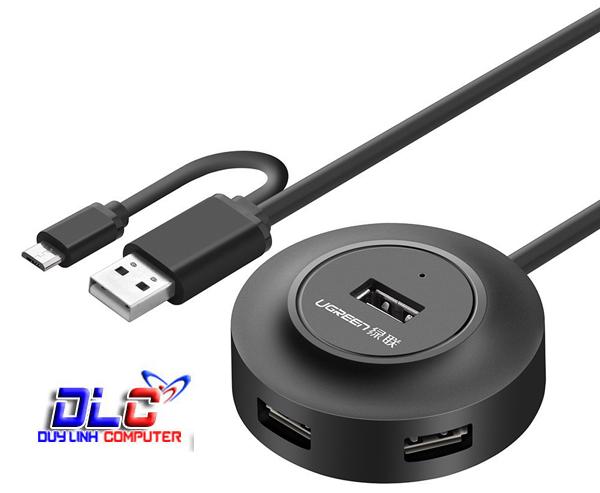 Bộ chia USB 2.0 4 cổng + OTG UGREEN 20278