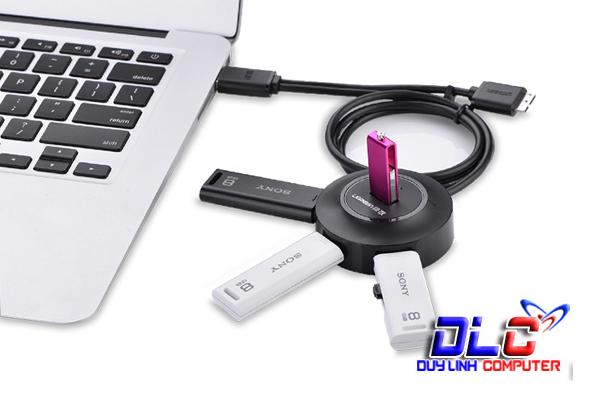 Bộ chia USB 2.0 4 Cổng tích hợp OTG chính hãng Ugreen 20275