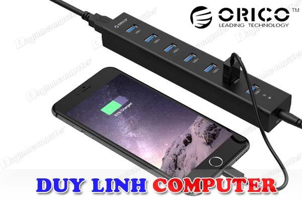 Bộ chia USB 7 cổng có nguồn Orico H7013-U3 chuẩn USB 3.0 chính hãng