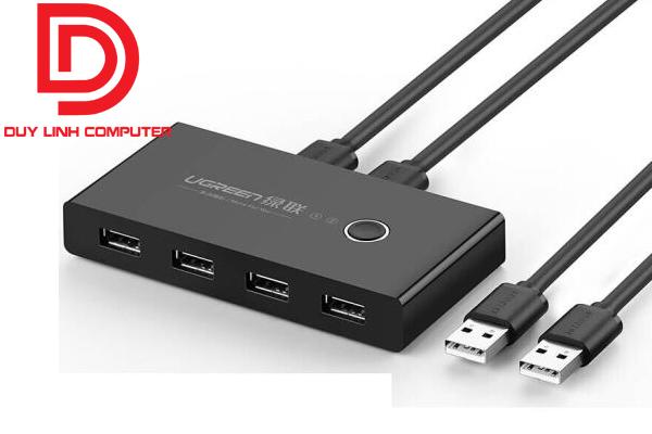 Bộ chuyển đổi USB 2.0 4 vào 2 Ugreen 30767 chính hãng cao cấp