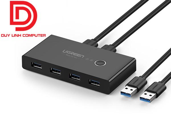 Bộ chuyển đổi USB 3.0 4 vào 2 Ugreen 30768 chính hãng cao cấp