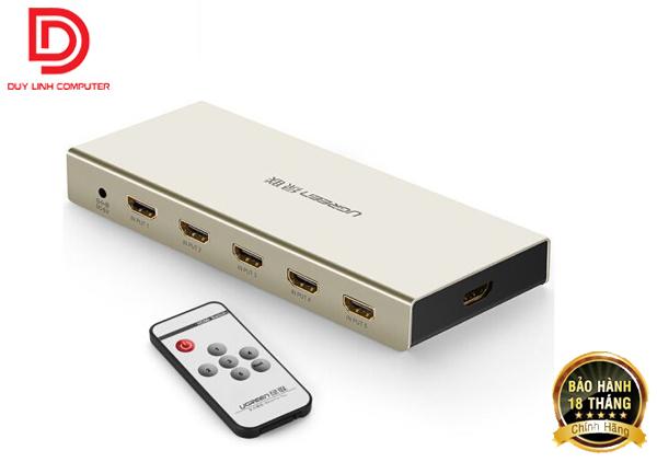 Bộ Gộp HDMI 5 Vào 1 Ra + SPDIF +3.5mm Ugreen 40370 Cao Cấp