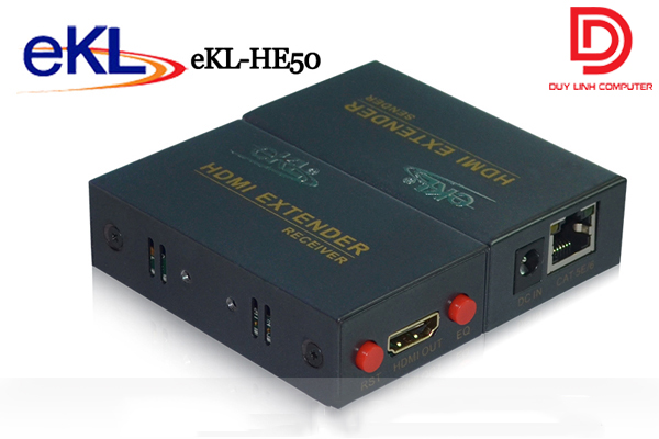 Bộ kéo dài HDMI qua cáp mạng RJ45 chính hãng EKL-HE50