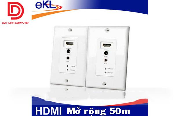 Bộ mở rộng HDMI 50m thông qua cáp mạng RJ45 gắn trong tường CHÍNH HÃNG EKL-WE50