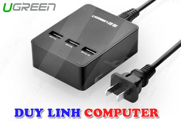 Bộ sạc đa năng 3 cổng USB 3.0 cao cấp Ugreen 20385