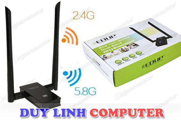 Bộ thu wifi hai băng tần kép 2.4G/5.8G EDUP EP-AC1605 tốc độ 1200Mb