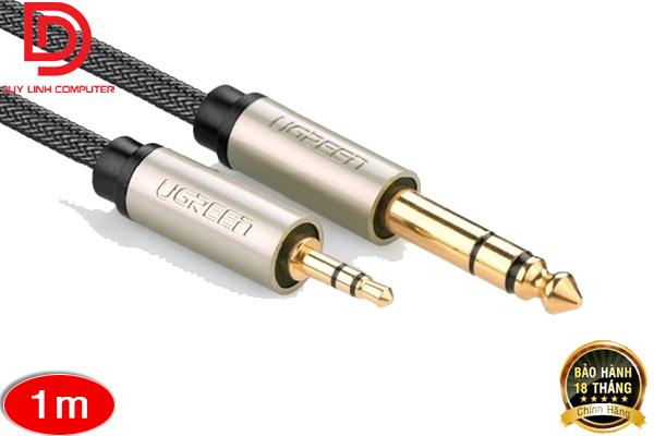 Cáp âm thanh 3.5mm sang 6.5mm dài 1M chính hãng Ugreen 10625