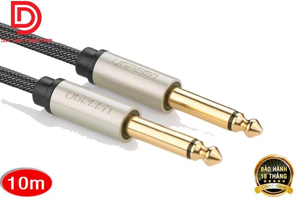 Cáp Audio 6,5mm male to male 10M chính hãng Ugreen 10642