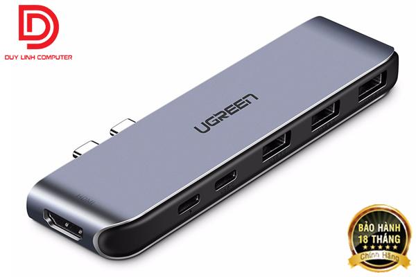Cáp chuyển đa năng USB Type C to HDMI, USB 3.0, hỗ trợ sạc PD Ugreen 50963 chính hãng