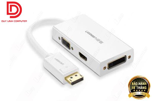 Cáp chuyển Displayport to VGA + HDMI + DVI hỗ trợ 4k 2k chính hãng Ugreen 20419