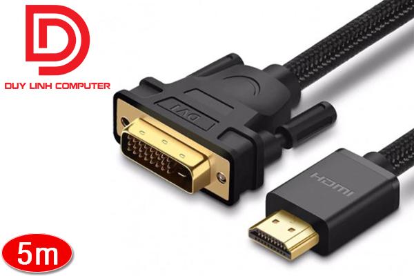 Cáp chuyển đổi HDMI to DVI 24+1 chính hãng Ugreen 50350 dài 5m cao cấp
