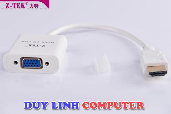 Cáp chuyển đổi HDMI to VGA chính hãng Z-Tek ZY053
