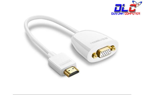 Cáp chuyển đổi HDMI to VGA không hỗ trợ Audio Ugreen 40252 chính hãng