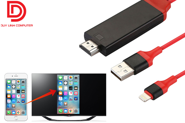 Cáp chuyển Iphone ra HDMI dài 2m