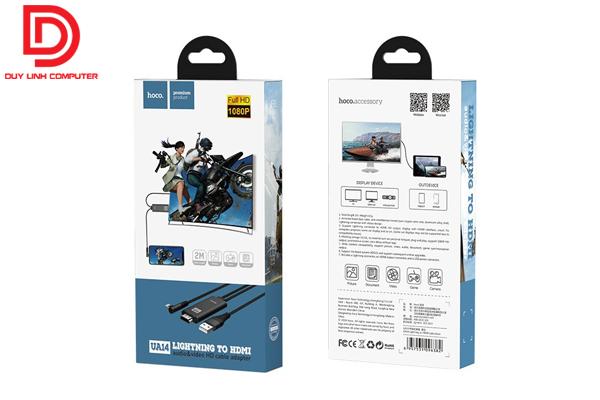Cáp chuyển Lightning to HDMI dài 2m chính hãng HOCO UA14