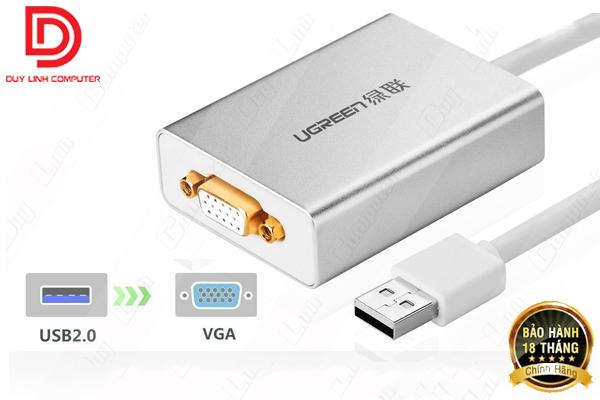Cáp chuyển USB to VGA cao cấp chính hãng Ugreen 40244