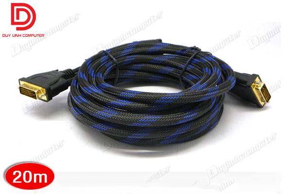 Cáp DVI to DVI 24+1 dài 20m - bọc lưới chống nhiễu