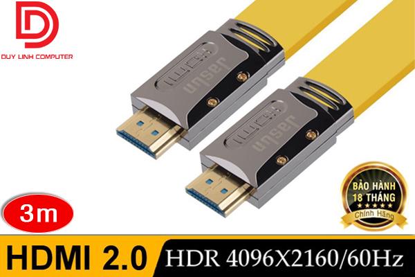 Cáp HDMI 2.0 3m Chính hãng Jasun Hỗ trợ 4K/2K/3D