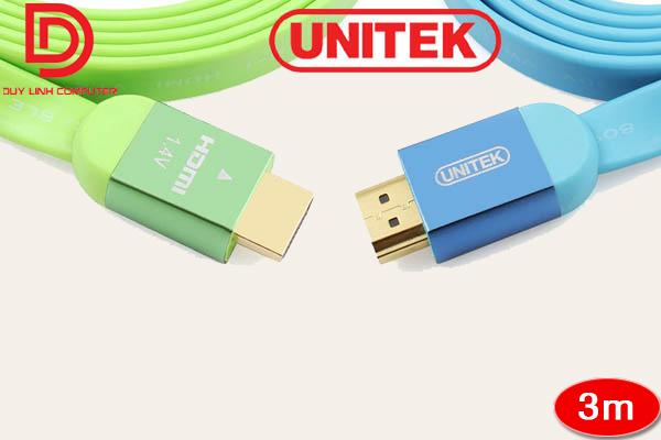 Cáp HDMI 3m Unitek Y-C155GN loại mỏng
