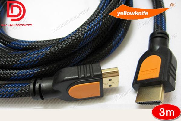 Cáp HDMI 3m YellowKnife chính hãng hỗ trợ 3D, 4K