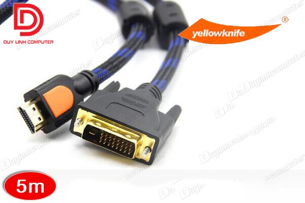 Cáp HDMI to DVI 5m chính hãng YellowKnife