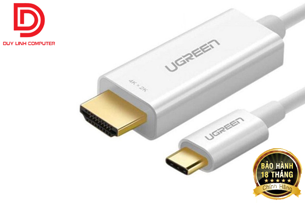 Cáp kết nối USB Type C to HDMI dài 1,5m Ugreen 30841 hỗ trợ 3D, 4K