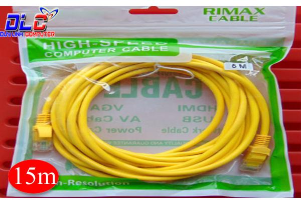 Cáp mạng bấm sẵn 15m màu vàng