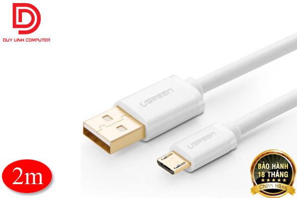 Cáp Micro USB to USB mạ vàng dài 2m chính hãng Ugreen 10850
