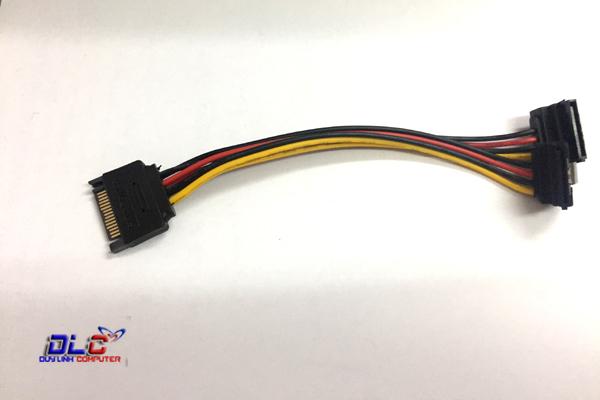 Cáp Nguồn SATA 15 Pin 1 Ra 2 Bẻ Góc 90 Độ