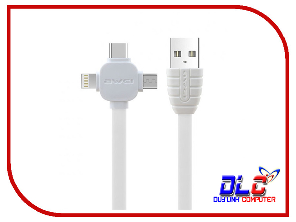 Cáp Sạc Nhanh 1M Awei CL-82 Cho iPhone, Type C, Android
