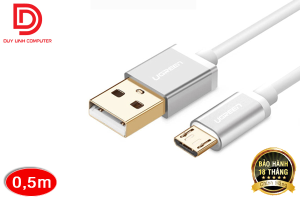 Cáp USB 2.0 to Micro USB dài 0,5M chính hãng Ugreen 10828