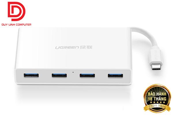 Cáp USB Type-C ra Hub USB 3.0 Ugreen 30278 (Sạc được Macbook)