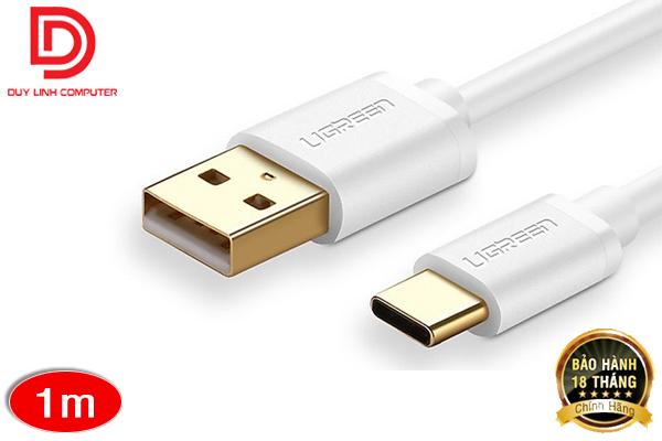 Cáp USB Type C sang USB 2.0 1m (White) chính hãng Ugreen 30165
